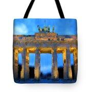 Post-it Art Berlin Brandenburg Gate Tote Bag