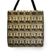 Post Office Combination Lock Boxes Tote Bag