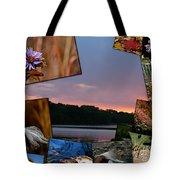 Postcard Autumn Memories Tote Bag