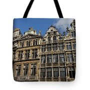 Postcard From Brussels - Grand Place Elegant Facades Tote Bag