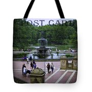 Postcard From Central Park Tote Bag