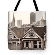 Postcard Row Bw Tote Bag