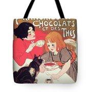 Poster Advertising The Compagnie Francaise Des Chocolats Et Des Thes Tote Bag