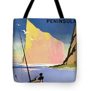 Poster Advertising The Gaspe Peninsula Quebec Canada Tote Bag