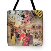 Poster Advertising The Montagnes Russes Roller Coaster Tote Bag