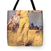 Poster Advertising The National Loan Tote Bag by Rene Lelong