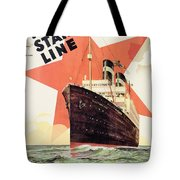 Poster Advertising The Red Star Line Tote Bag