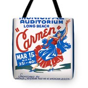 Poster For Production Of Carmen Tote Bag
