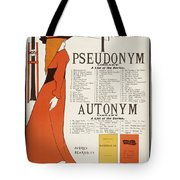 Poster For 'the Pseudonym And Autonym Libraries' Tote Bag