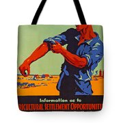 Poster Promoting Emigration To Canada Tote Bag