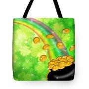Pot Of Gold Shamrock Blurred Background Tote Bag
