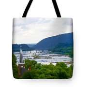 Potomac River At Harpers Ferry Tote Bag