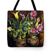 Pots And Flowers Tote Bag
