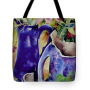 Pottery And Flowers Tote Bag