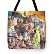Pottery Seller In Essaouira Tote Bag