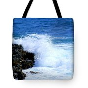 Pounding The Reef Tote Bag