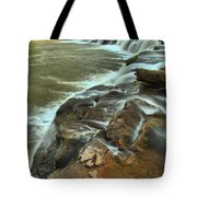 Pouring Through The New River Tote Bag