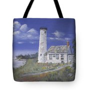 Poverty Island Lighthouse Tote Bag