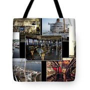 Power Collage Queen Mary Ocean Liner Long Beach Ca 01 Tote Bag