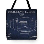 Power Driven Balloon Patent Tote Bag