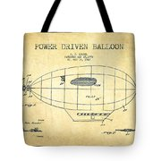 Power Driven Balloon Patent-vintage Tote Bag