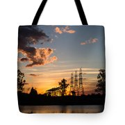 Power In The Sunset Tote Bag