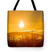 Power Lines And Trees In The Frozen Tote Bag