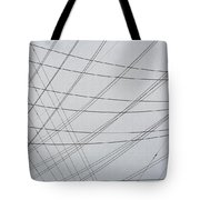 Power Lines Fill The Sky Tote Bag
