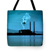 Power Station Silhouette Tote Bag by Craig B
