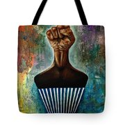 Power To The Afro Pick Tote Bag