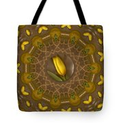 Power To The Tulips Pop Art Tote Bag