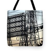 Power Tower Lines Tote Bag