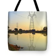 Powerline And Pylons Tote Bag