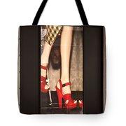 Prada Red Shoes Tote Bag