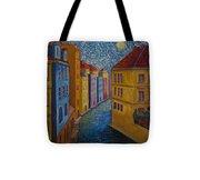 Prague A La Vangogh Tote Bag