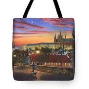 Prague At Dusk Tote Bag