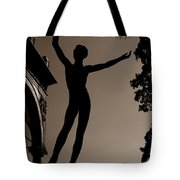 Prague Castle Statue Tote Bag