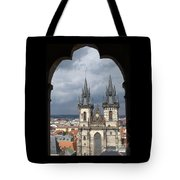 Prague From Town Hall Tower Tote Bag