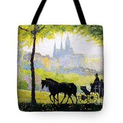 Prague Midday Walk In The Petrin Gardens Tote Bag