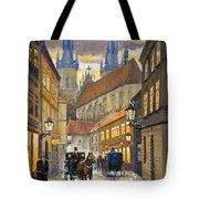 Prague Old Street Stupartska Tote Bag