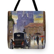 Prague Old Town Square Old Cab Tote Bag