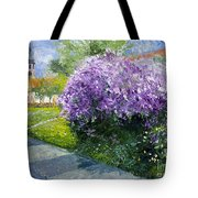 Prague Spring Loreta Lilacs Tote Bag