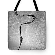 Prague Street Map - Prague Czech Republic Road Map Art On Colore Tote Bag