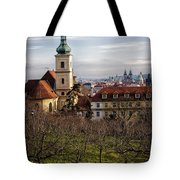 Prague View From The Gardens Tote Bag
