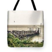 Prange Street Pier Raining Tote Bag