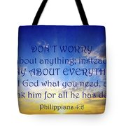 Pray About Everything 1 Tote Bag
