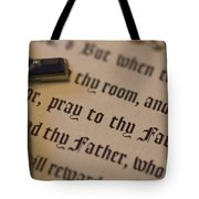 Pray To Thy Father Tote Bag