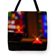 Prayer Candles Trinity Cathedral Pittsburgh Tote Bag