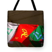 Prayer Flags Tote Bag by Angela Wright