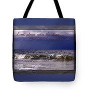 Prayer In Storm Tote Bag